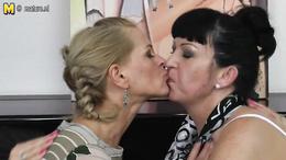Three big sexy ladies engage in nasty lesbian love making porno