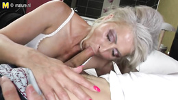 Horny milf deepthroats that huge throbbing cock before getting slayed