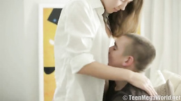 Young babe provides excellent blowjob before a very good fuck