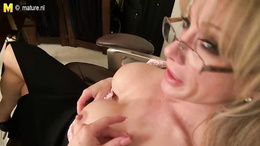 High heels and big firm boobs are special for this sexy mature