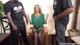 Kiki Daire is very tight for these black thugs with giant dicks