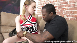 Petite teen Alexia Gold wants to know how it is riding a black cock