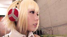 Japanese cosplay babe Chika Arimura licked