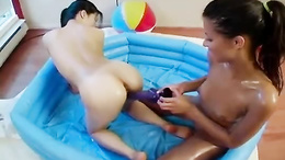 Very cute Asian and her friend lesbo fuck
