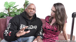 Wonderful darling gets fucked by a black dude for the first time