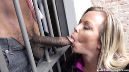 Milf with huge tits Amber Lynn Bach goes nasty with thug's big cock