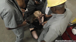 Hot Christie Stevens gets her hole drilled by BBC in a hard gangbang