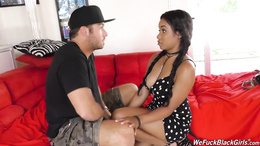 Big tits Jenna Foxx meets horny stud with massive dick on couch