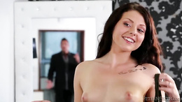 Marco Banderas catches Megan Sage naked and gives her a hard fuck