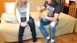 Homemade video with attractive blonde that sucks and fucks on camera
