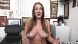 Hot mature Skyler Luv sucks a cock and gets fucked doggy style
