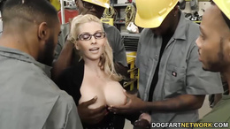 Busty Christie Stevens gets anal from big black cocks