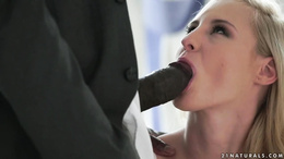 Stunning blonde Helena Valentine goes black in her butt