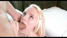 Sexy young blonde meets man with giant cock for a few rounds of sex
