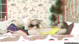 Real moments of hardcore sex with a gorgeous blonde teen in heats