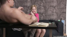 Erotic blonde babe moans as she gets her pussy licked and fucked hard