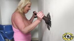 Zoe Andrews slavers over a stiff throbbing cock
