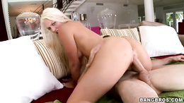 Maci Lee bounces her hot pussy on this stiff shaft