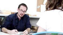 Horny schoolgirl Jade Nile gets naughty with the teacher