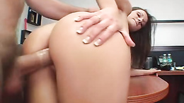 Pretty Alex Dupree enjoys her slimy twat being split by a fat rod