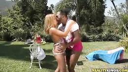 Latina Emanuely Rios getting a hard fucking from a big dick black stud