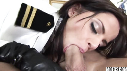 Horny hot babe Black Angelica loves her man's hard cock in her mouth.