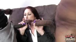 Sexy Tiffany Mynx sucks on these throbbing manaconda's