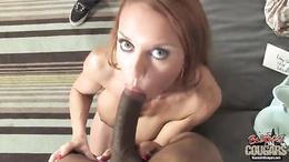 Janet Mason red head cougar suck and wank black guys