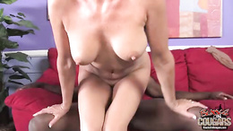 Vanessa Videl rides her twat to a huge black dick