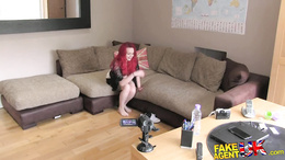 FakeAgentUK Teen Redhead with massive tits