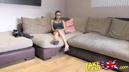 FakeAgentUK Big fat dick is too much for ebony babe