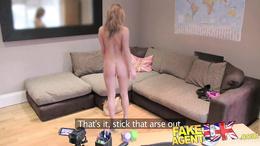 FakeAgentUK Second casting sees petite babe creampie