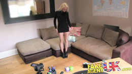 FakeAgentUK Casting couch sees smoking hot blonde