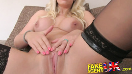 FakeAgentUK Creampie for sexy blonde