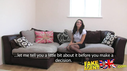 FakeAgentUK Perfect british brunette gets deep creampie